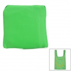 Nylon Waterproof Grid Cloth Shopping Bag - Green