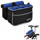 Acacia 0421808 Outdoor Cycling Bike Top Tube Oxford Shoulder Bag + Removable Bags - Black + Blue
