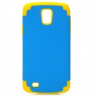Protective Silicone + PC Case for Samsung i9295 - Blue + Yellow