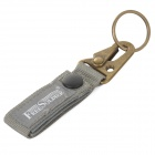 Free Soldier Outdoor Quick Release Fabric Belt + Aluminum Alloy Snap Hook Keychain - Grey