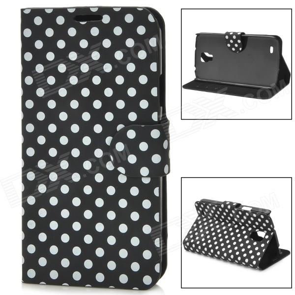 Polka Dot Style Protective PU Leather Case for Samsung i9295 - Black + White handpainted cactus and polka dot printed pillow case