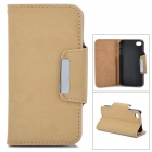 Protective PU Leather Case for Iphone 4 / 4S - Beige