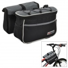 Acacia 0421810 Outdoor Cycling Bike Top Tube Oxford Shoulder Bag + Removable Bags - Black