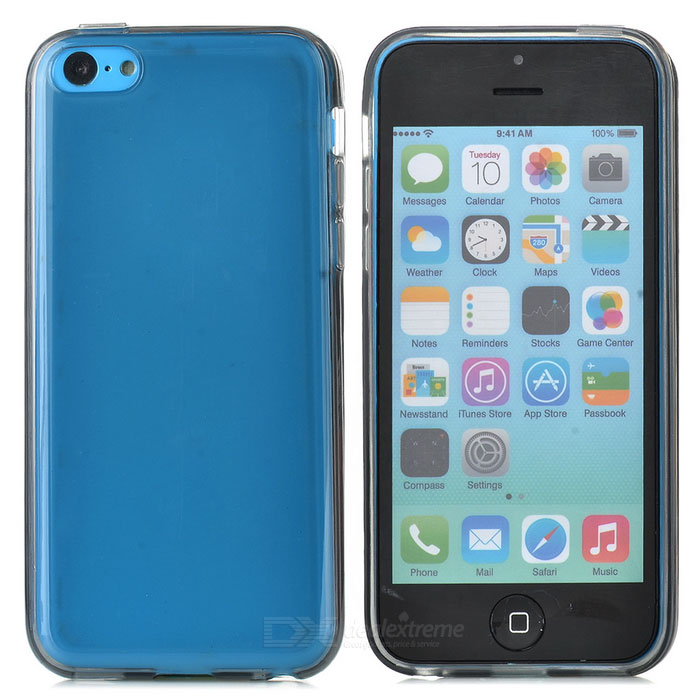 Protective TPU Back Case for Iphone 5C - Translucent Grey protective tpu case for ipod touch 5 translucent grey