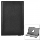 Rotatable Lichee Pattern PU Leather Case for Sony Xperia Tablet Z - Black
