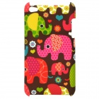 Cute Elephant Pattern Matte Back Case for Ipod Touch 4 - Multicolored