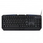 Motospeed K60L Water Resistant USB Wired 104-Key Keyboard w/ 3-Color Backlight - Black