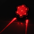 Flower Shaped 7-Mode 7-LED Red Light Bike Laser Tail Lamp w / Mount Holder - красный + черный (2 x AAA)