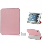 External 8000mAh Power Battery Charger w/ PU Leather Case / Auto Sleep for iPad Mini - Pink