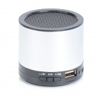 HS-X2  Rechargeable Aluminum Alloy Media Player Speaker w/ USB 2.0 / TF / FM - Silver + Black