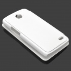 Protective PU Leather + Plastic Case for Lenovo A820 - White
