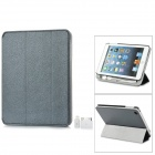 External 8000mAh Power Battery Charger w/ PU Leather Case / Auto Sleep for iPad Mini - Black