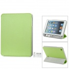 External 8000mAh Power Battery Charger w/ PU Leather Case / Auto Sleep for iPad Mini - Green