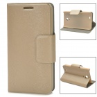Protective PU Leather + Plastic Case for THL W100 - Champagne
