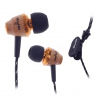 AWEI 50mW ES-Q5 3.5MM in-Ear Noise Isolation Earphone - Black + Wood + Golden