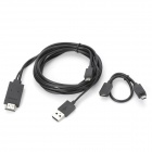 Mikro5pin & Micro 11pin USB MHL zu HDMI Cable Kit Media Adapter für Smartphone - Schwarz