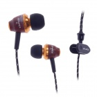 AWEI 50mW ES-Q5 3.5MM in-Ear Noise Isolation Earphone - Black + Brown + Golden