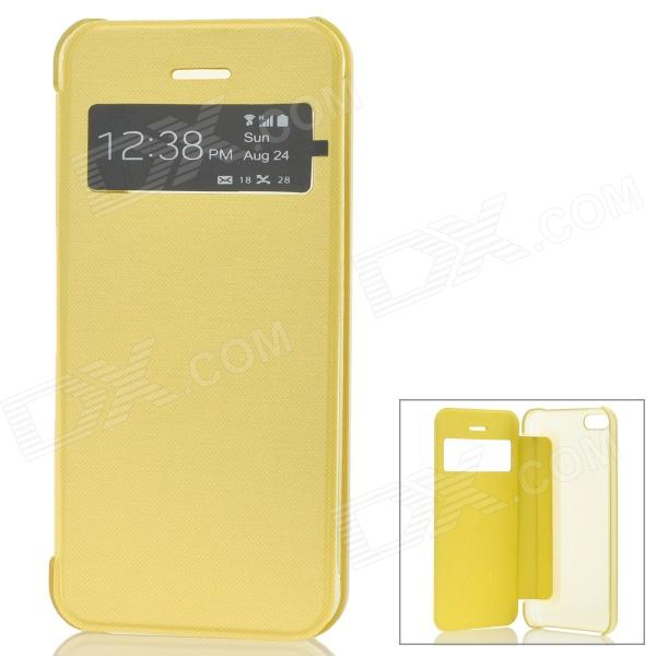 Stylish Protective Case w/ Display Window for Iphone 5C - Yellow