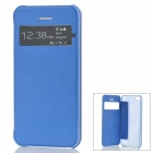 Stylish Protective Case w/ Display Window for Iphone 5C - Blue
