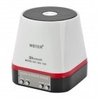 WS-336 Portable Bluetooth v4.0 Speaker w/ Microphone / TF - White + Black + Red