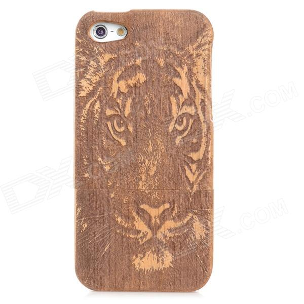 Tiger Pattern Protective Walnut Woonden Case for Iphone 5