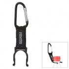 Free Soldier Outdoor Quick Release Fabric Belt + Aluminum Alloy Snap Hook w/ Carabiner - Black