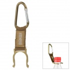Free Soldier Outdoor Quick Release Fabric Belt + Aluminum Alloy Snap Hook w/ Carabiner - Brown