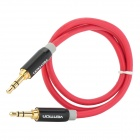 3.5mm Male to Male Extension Audio Cable - Red + Black