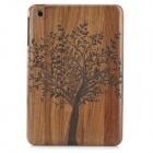 Retro Stylish Tree Pattern Protective Walnut Wood Back Case for Ipad MINI - Brown + Black