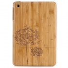 Retro Stylish Dandelion Pattern Protective Carbonized Bamboo Back Case for Ipad MINI - Brown