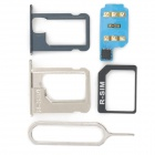 R-SIM 8+ Unlock SIM Card w/ SIM Card Adapters for Iphone 4S / 5 - Blue