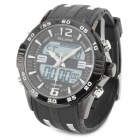 ALIKE AL112 Men's Sporty 30-meter Waterproof Analog + Digital Quartz Wrist Watch - Black + White
