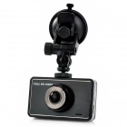 "V3000 1080P 3"" TFT LCD 5.0MP Wide Angle Lens Car DVR w/ HDMI / G-sensor / TF - Black + Silver"