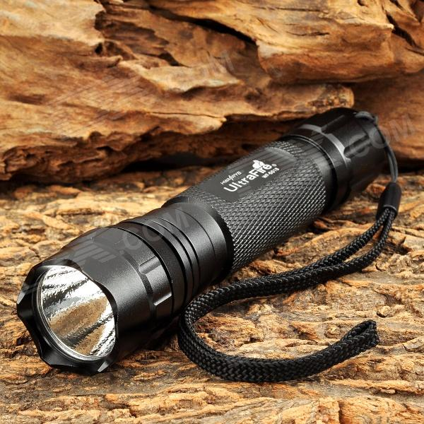UltraFire LLZ-U2 600lm 5-Mode Memory White Tactical Flashlight w/ Cree XM-L U2 - Black (1 x 18650) ultrafire lzz 1 600lm 4 mode white bicycle headlamp w cree xm l u2 black golden 4 x 18650