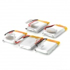 502030 Replacement 3.7V 240mAh 30C Batteries for R/C Aircraft - White (5 PCS)