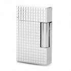 1300 Centigrade Dual Flame Butane Gas Lighter - Silver