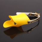 PANNOVO DOG-01 Cute Funny Pet Dog 3D Muzzle Duck Face Lip Mouth Guard Protector - Yellow (Size S)