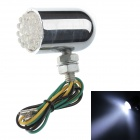 Universal 1W 50lm 19-LED White Light Motorcycle Steering Lamp - Silver (12V)