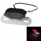 Universal 1W 75lm 16-LED Red Light Motorcycle Tail Decoration Light - Black + Silver (12V)