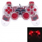 Microkingdom 850S USB Wired PC Game Dual-shock Joystick Controller - Red + Transparent (144cm-Cable)