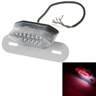 Universal 1W 75lm 16-LED Red Light Motorcycle Tail Decoration Light - Transparent + Silver (12V)