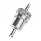 Universal Aluminum Alloy Motorcycle Modification Car Fuel Filter - Silver
