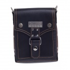 LIAWES 1001-2A Fashionable High-Grade Head Layer Cowhide Men's Business Bag - Black