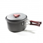 RT-201 Portable Aluminum Alloy Outdoor Camping Cooking Pot - Grey (Small-Size)