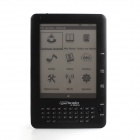 "PORTWORLD PB-01 6"" E-ink Android4.0 E-book w/ 512MB RAM, 4GB ROM, TF - Black"
