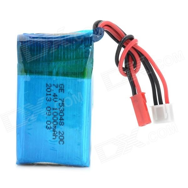 WLtoy V912 20C 7.4V 1000mAh Battery - Blue