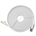 CZ-CAT-7-5 CAT-7 RJ45 Male to Male High Speed Transmission Flat Network Cable - White (5m)