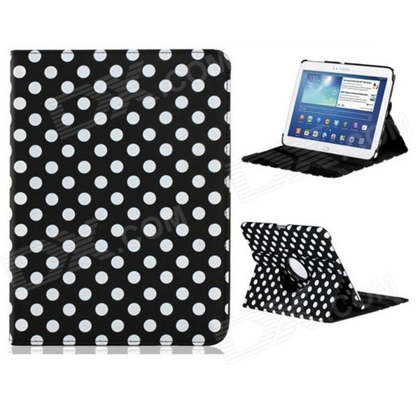360 Degree Rotation Polka Dot Faux Leather Case with Stand for Samsung Galaxy Tab3 P5200 10.1""