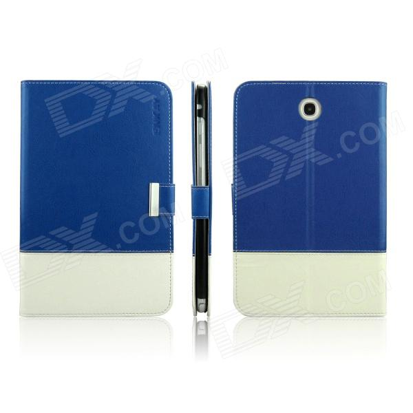 ENKAY ENK-7032 Protective Case with Card Slots Stand for Samsung N5100 / N5110 - Dark Blue + White