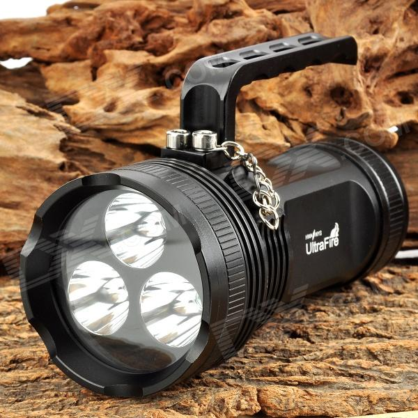 UltraFire XL-3XU2 3 x LED 1500lm 5-Mode White Flashlight - Black (4 x 18650)